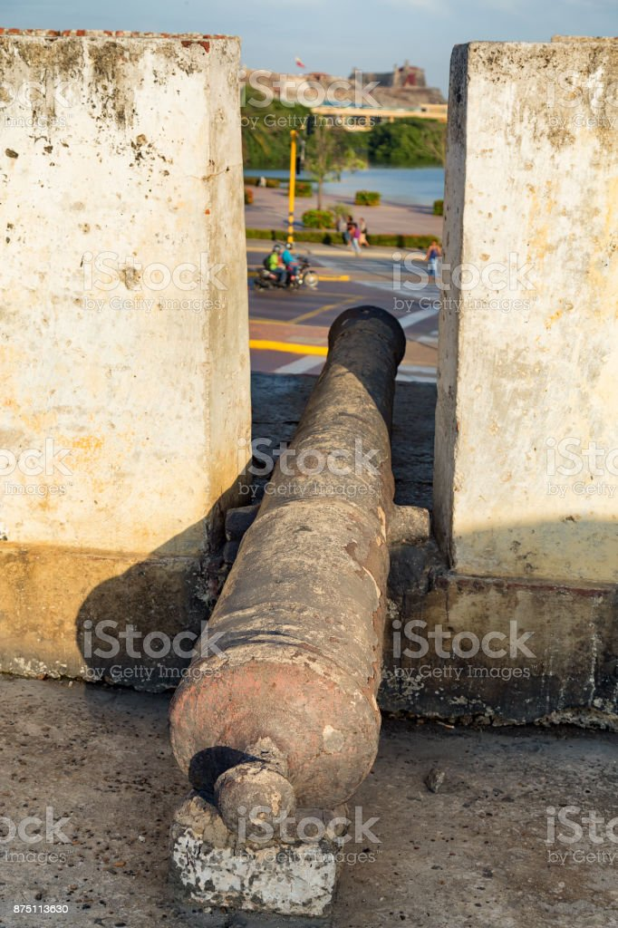 Colonial Cannon stock photo