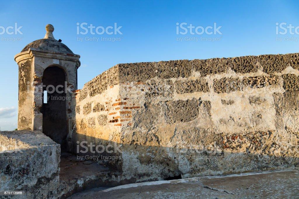 Colonial Cartagena Turret stock photo