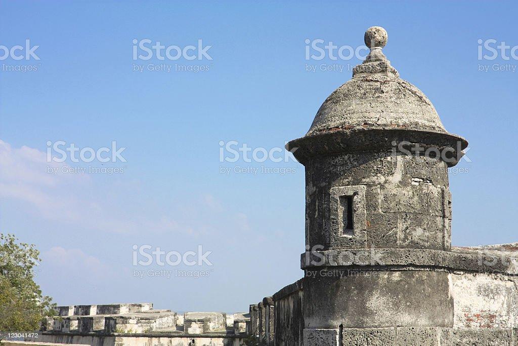 Colonial castle of Cartagena de Indias. Colombia royalty-free stock photo
