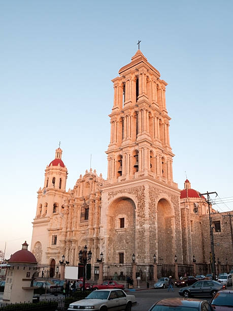 Colonial Cathedral, Saltillo, Mexico  coahuila state stock pictures, royalty-free photos & images