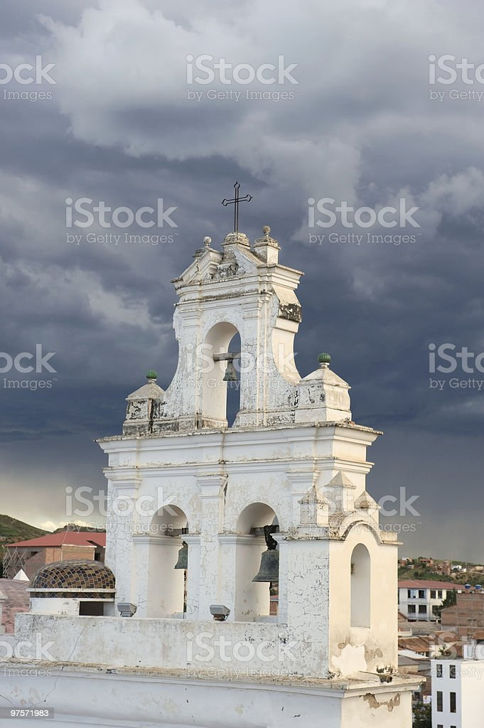 Église coloniale, la Bolivie. photo libre de droits
