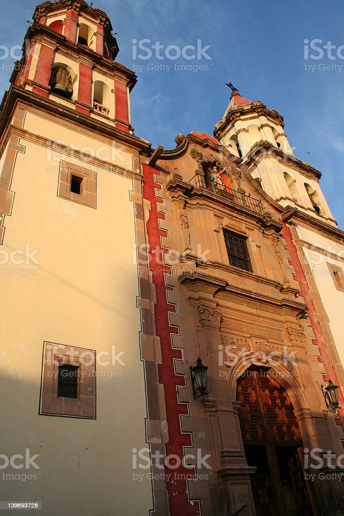 Colonial Church in Mexico 2 stock photo