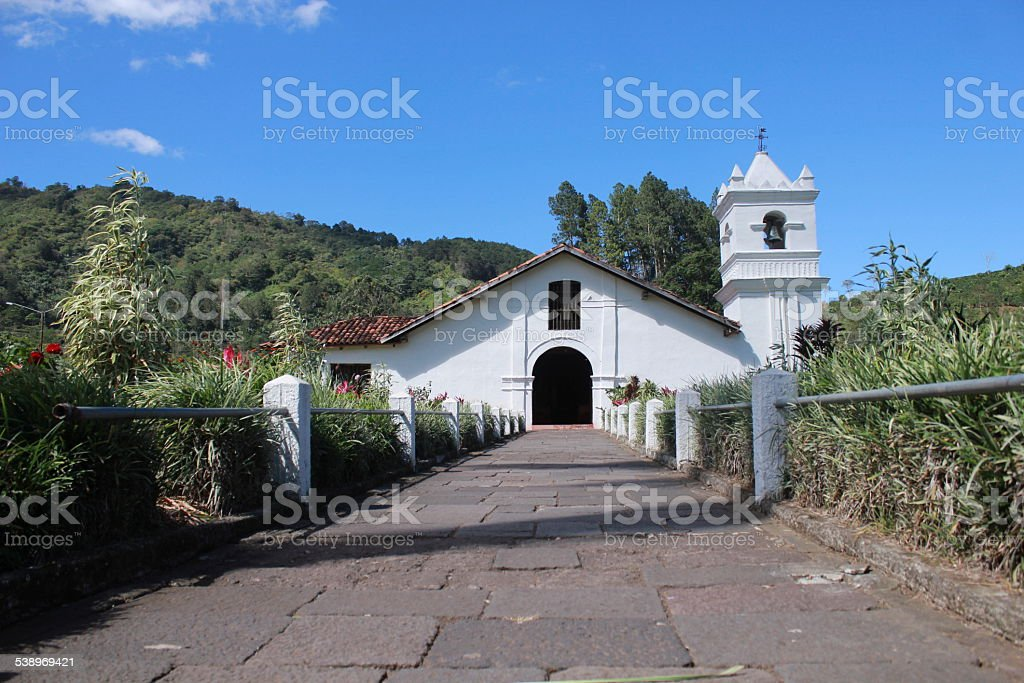 Colonial Church Orosi, Cartago, Costa Rica stock photo