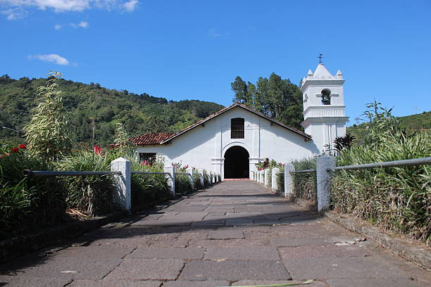 Colonial Church Orosi, Cartago, Costa Rica stock photo