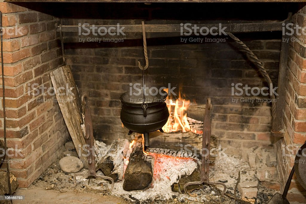 Colonial Cooking royalty-free stock photo