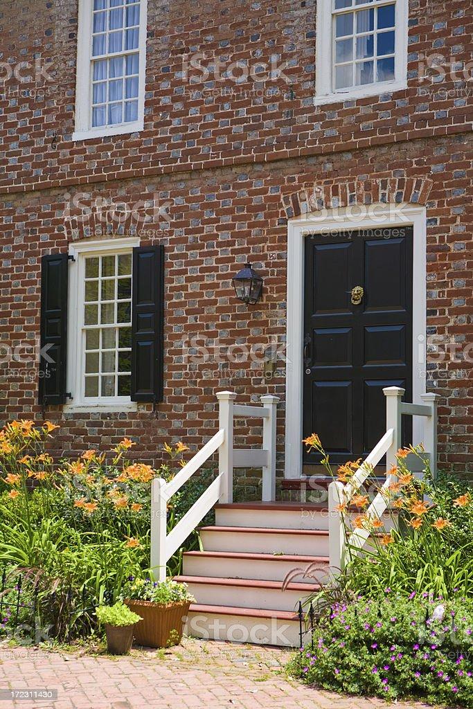 Colonial Doorway stock photo