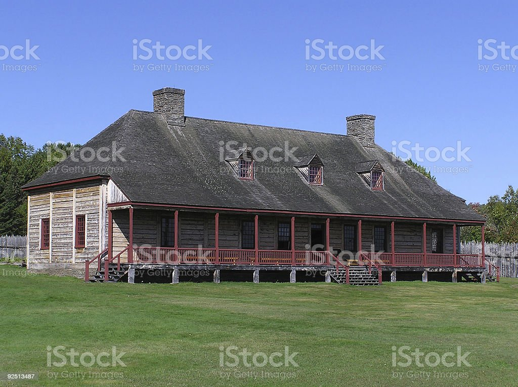Colonial Era Fort royalty-free stock photo