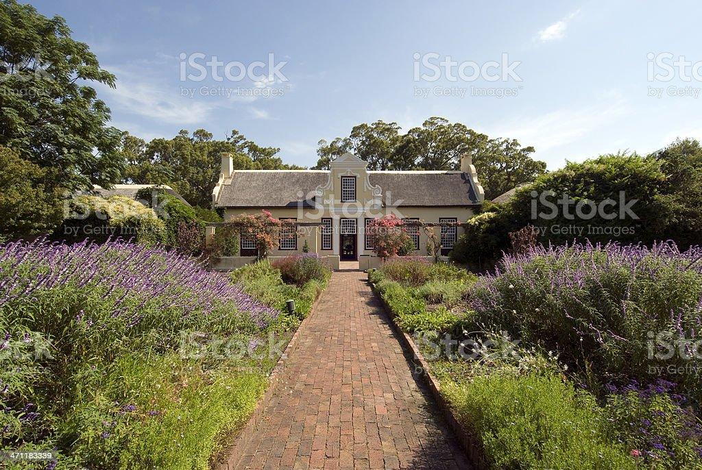 Colonial farmhouse stock photo