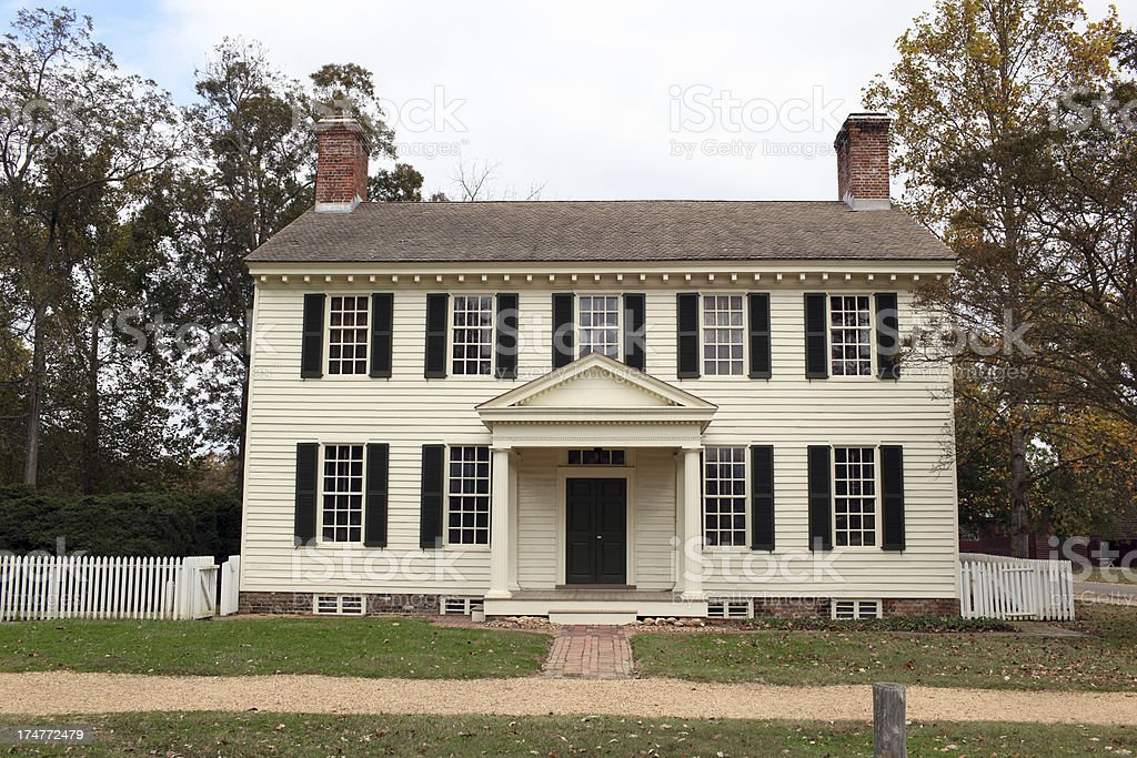 Colonial Home stock photo