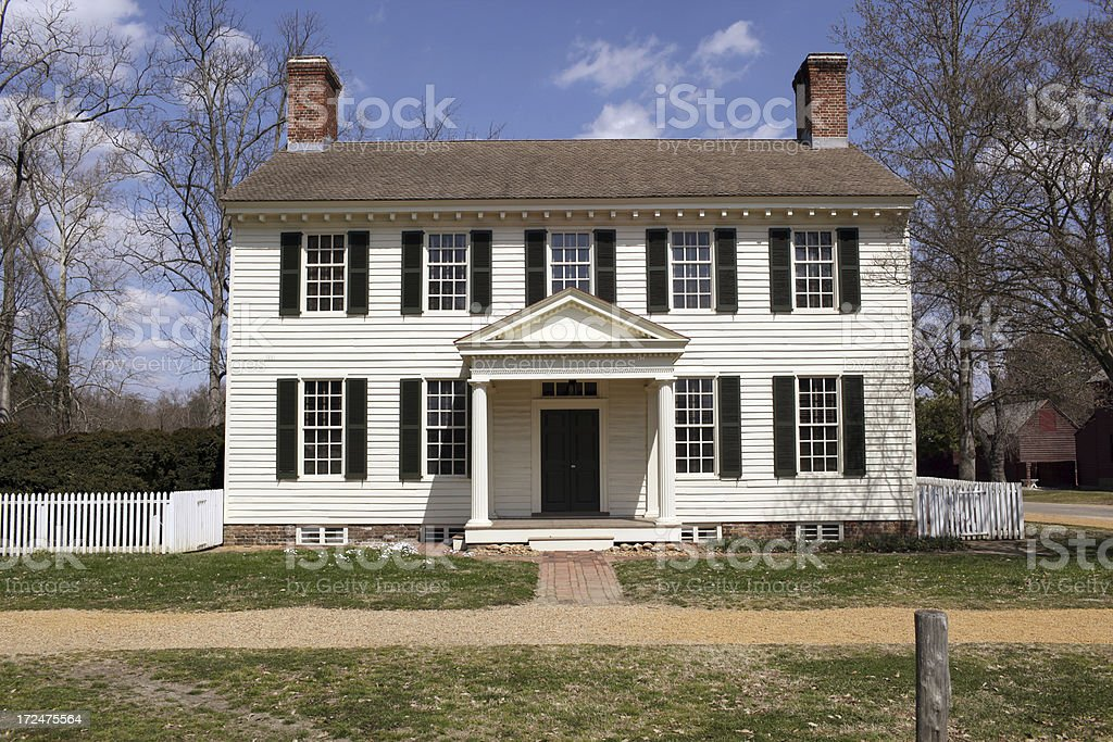 Colonial Home Series stock photo