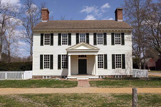 colonial home series - kolonial stock-fotos und bilder