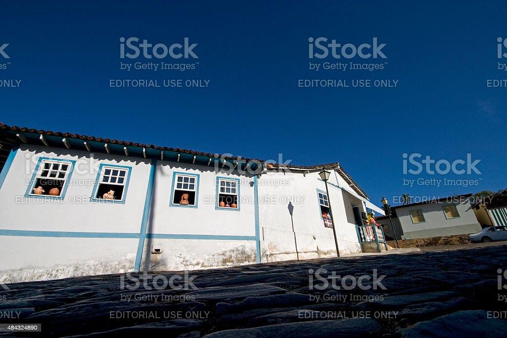 Casa Colonial em Pirenopolis Goiás Estado Brasil - foto de acervo