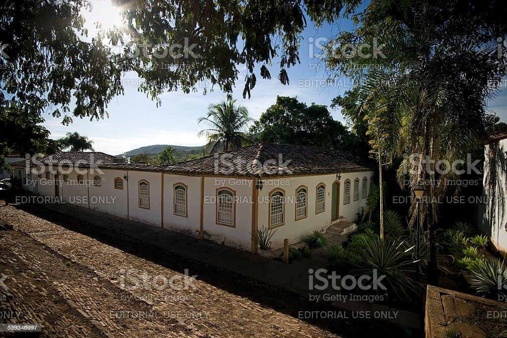 Casa Colonial em Pirenopolis Goiás Estado Brasil foto royalty-free