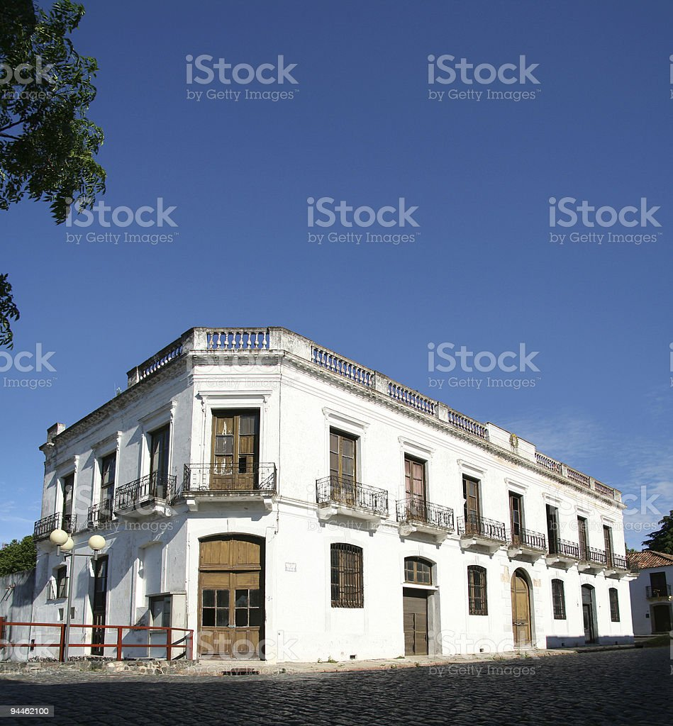 Colonial house in Uruguay royalty-free stock photo