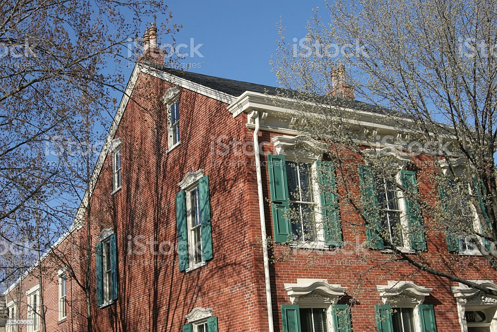 Colonial House royalty-free stock photo