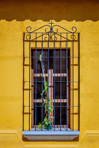 Antigua Guatemala, August 2016, a colonial house's window