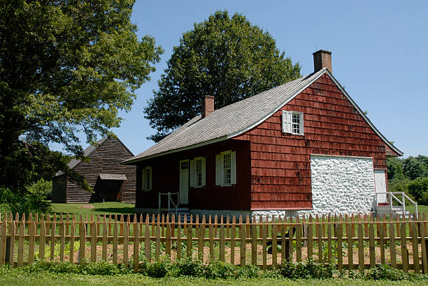 Colonial Houses stock photo