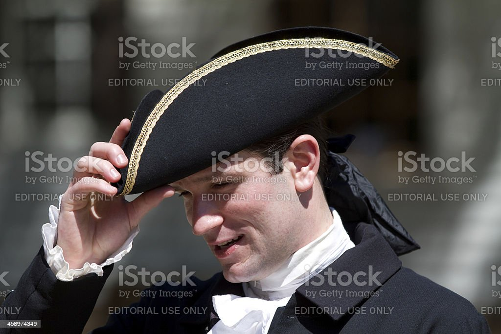 Colonial life in Williamsburg, Virginia stock photo