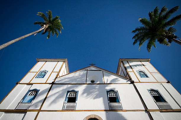 Colonial igreja principal da Pirenopolis no Goiás Estado Brasil - foto de acervo