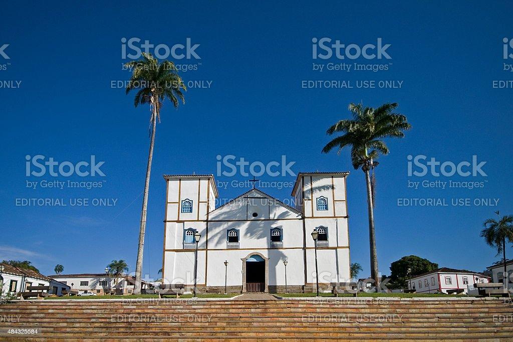 Colonial igreja principal da Pirenopolis no Goiás Estado Brasil foto royalty-free