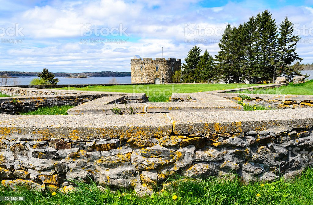 Colonial Pemaquid State Historic Site stock photo
