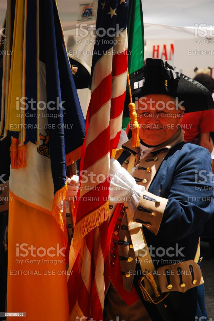 Colonial Regiment, Philadelphia stock photo