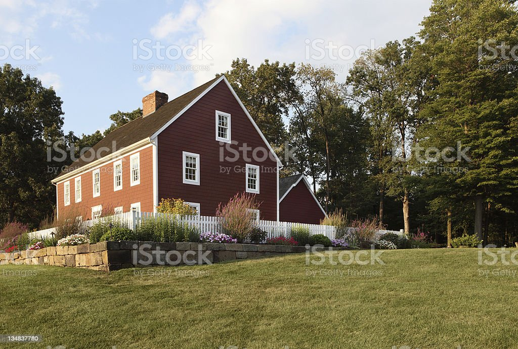Colonial Reproduction Home stock photo