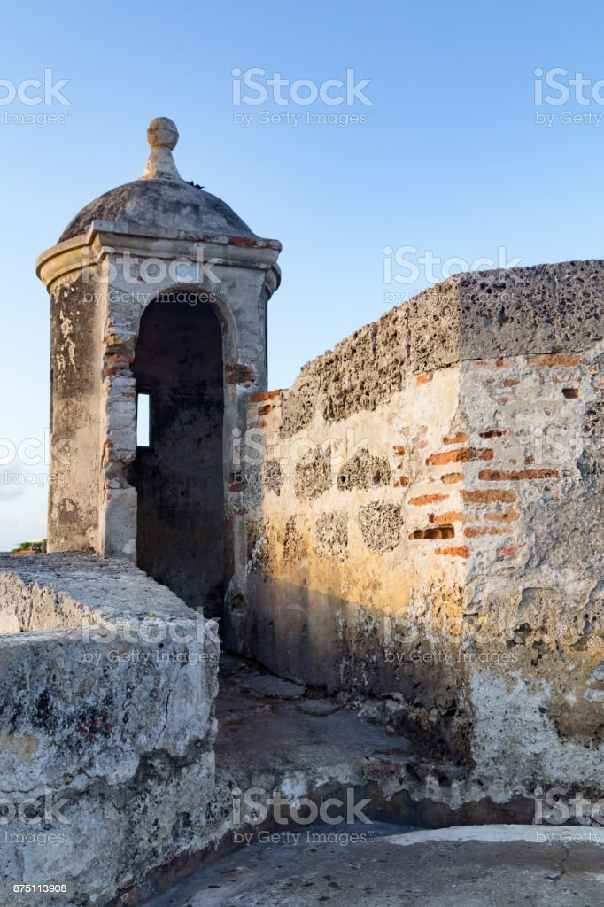 Colonial Spanish Turret stock photo