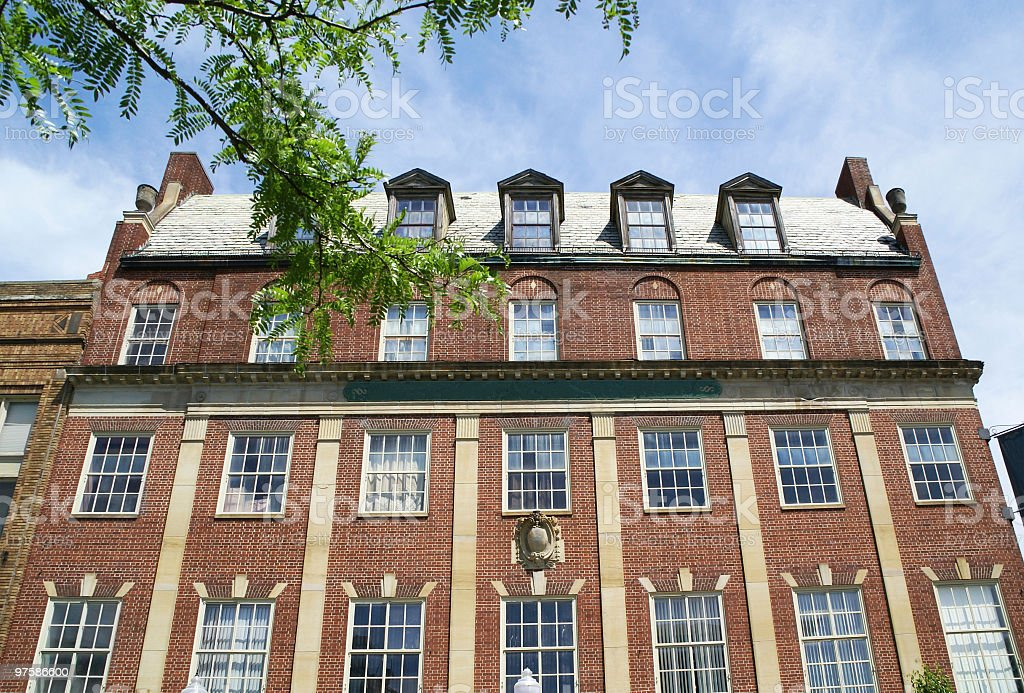 Colonial Style Brick Building royalty-free stock photo