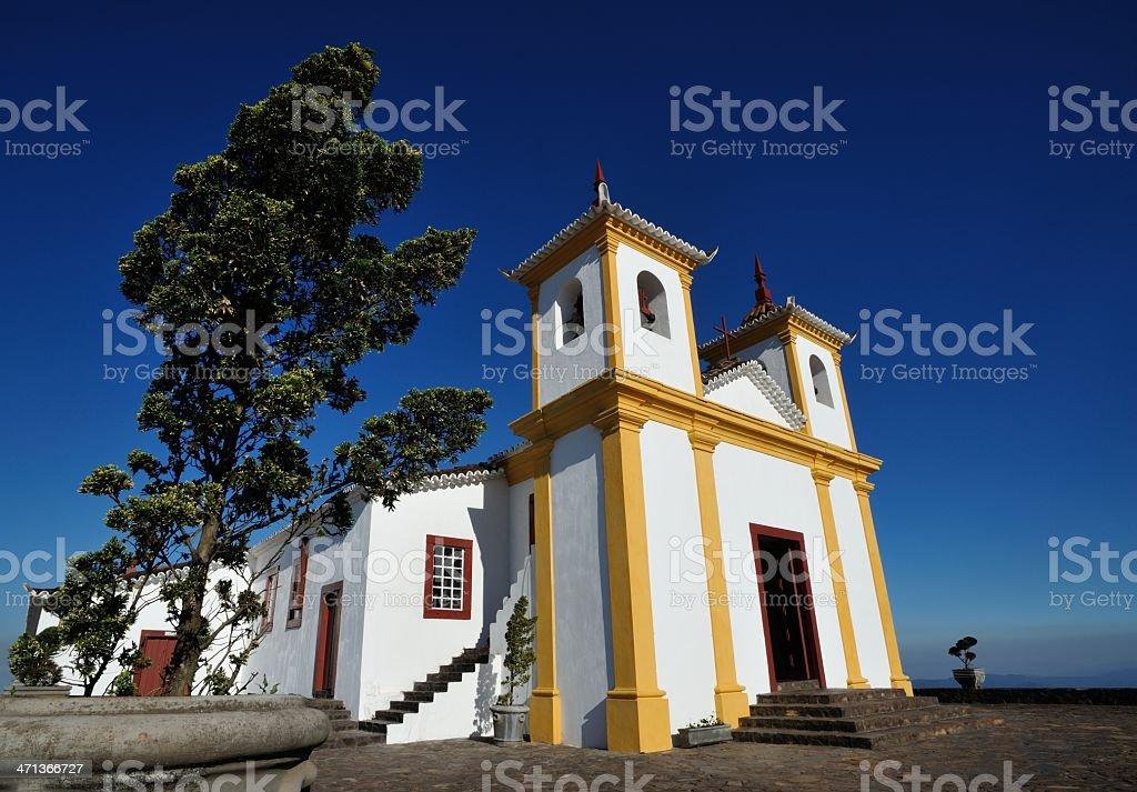 Colonial style church in Brazil (Serra da Piedade) stock photo