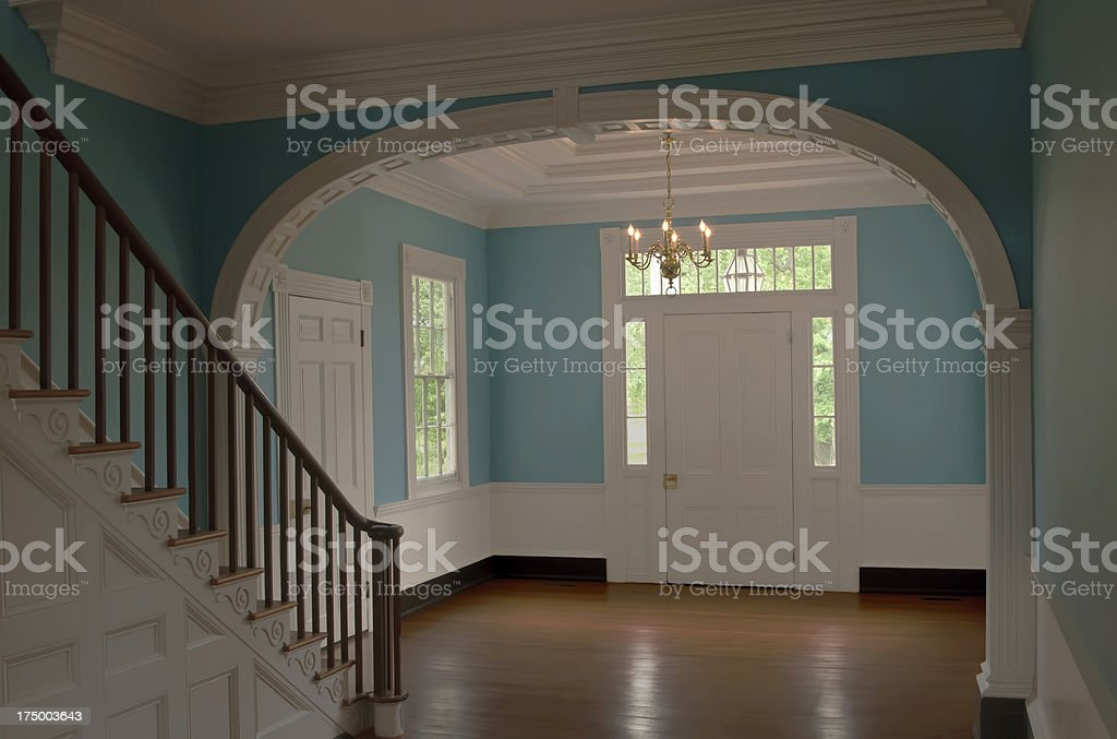 Colonial style entrance royalty-free stock photo