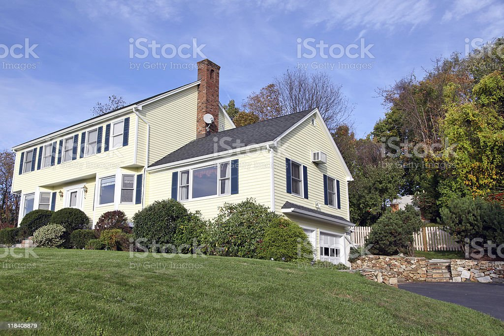 Colonial style home stock photo