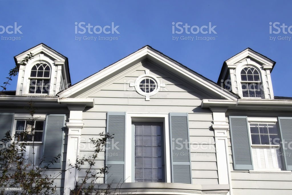 Colonial Style Home royalty-free stock photo