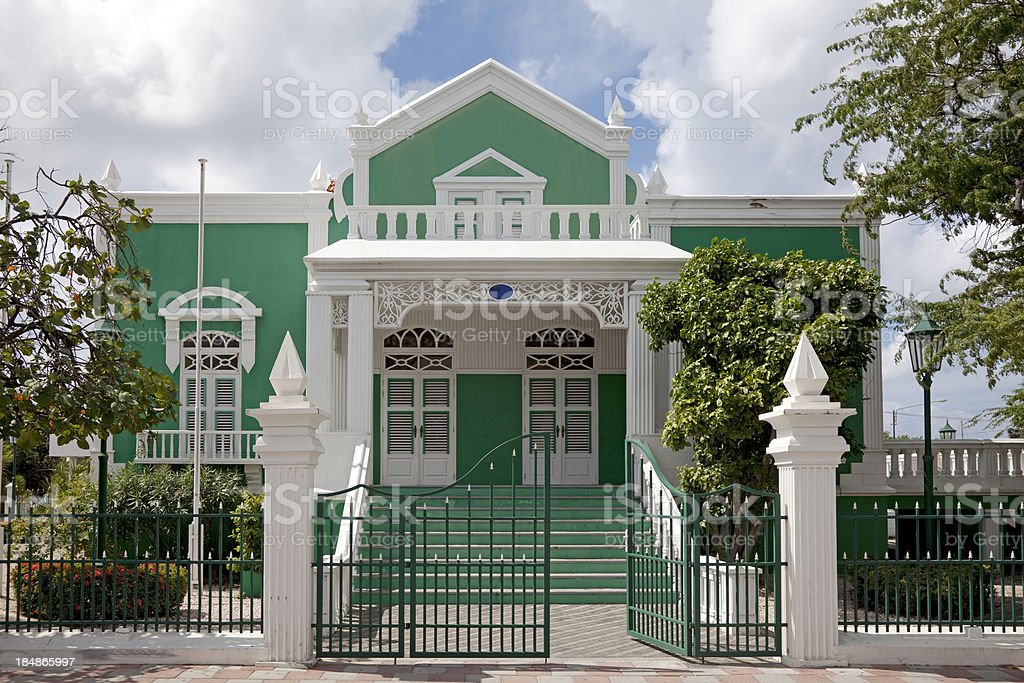 Colonial style house stock photo