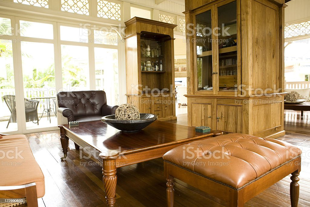 Photo de stock de style colonial bureau et espace salon images