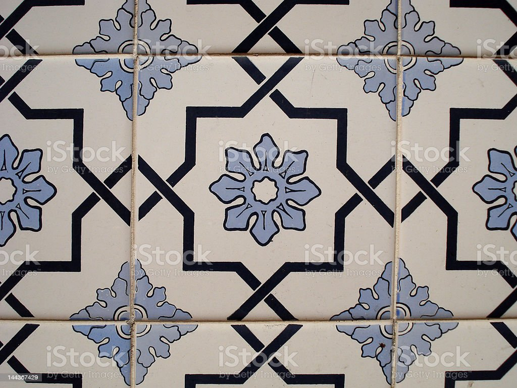 colonial Tiles royalty-free stock photo