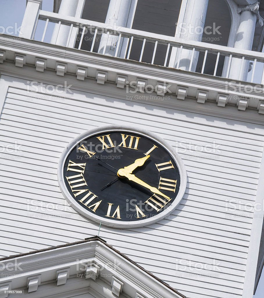 Colonial Timepiece stock photo