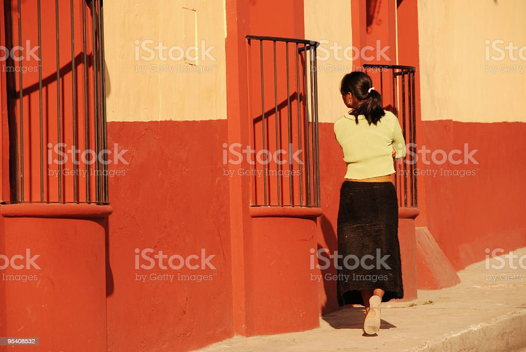 Colonial walking royalty-free stock photo