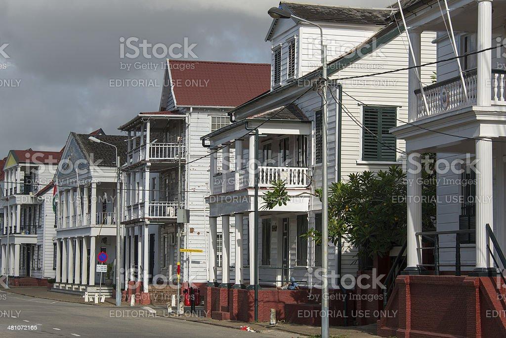 Colonial Waterkant stock photo