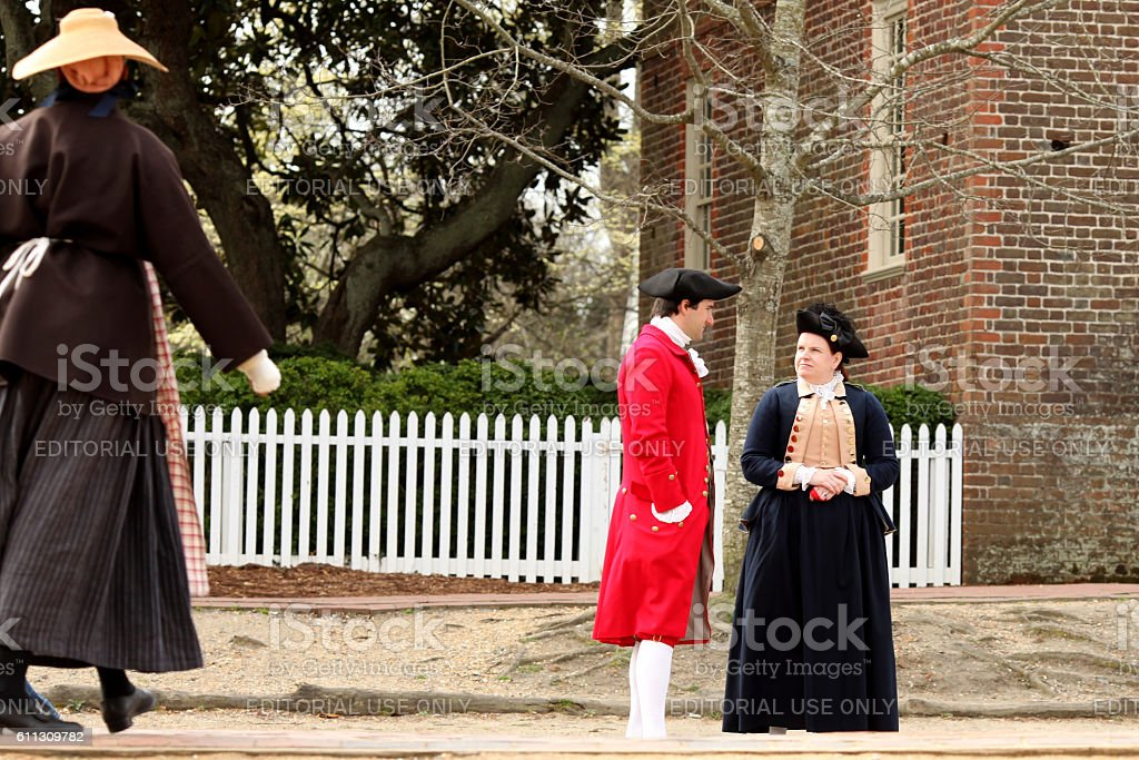 Colonial Williamsburg stock photo
