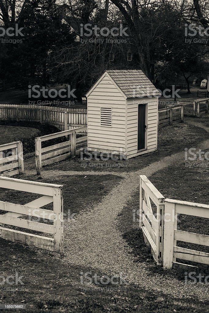 Colonial Williamsburg Virginia royalty-free stock photo