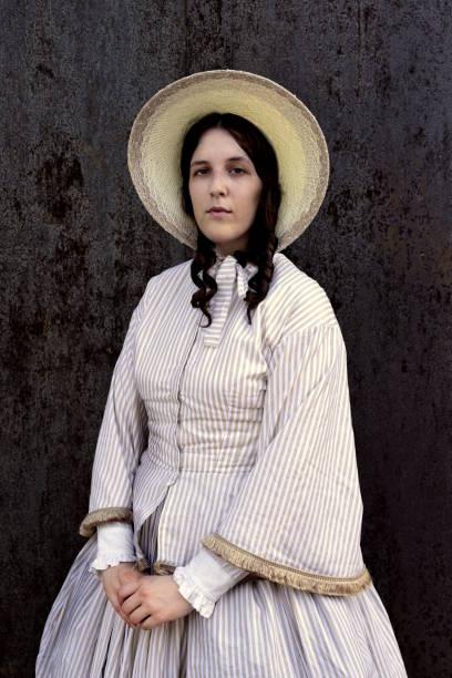 femme coloniale dans vieux far west - Photo