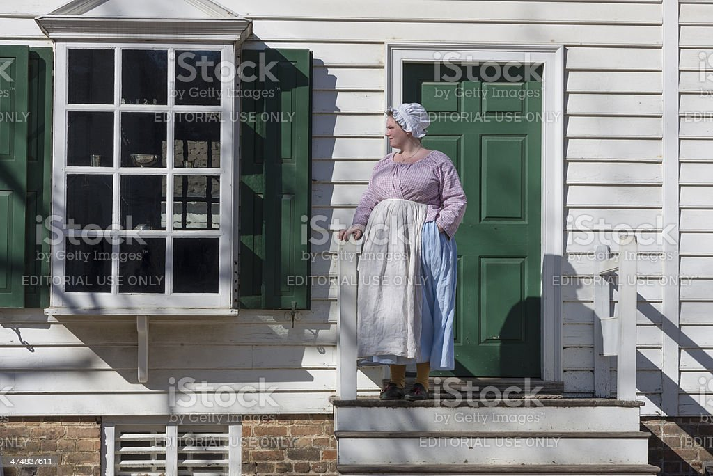 Colonial Woman stock photo