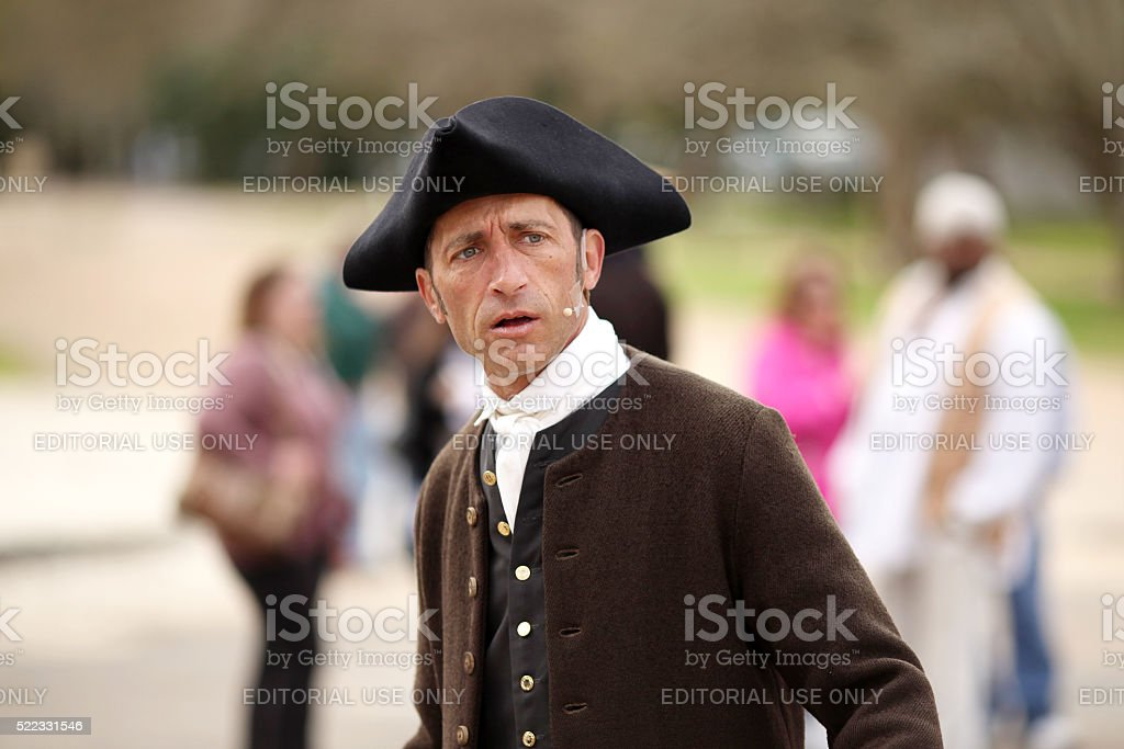 Colonists Reenactment stock photo