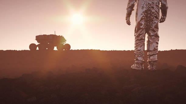 colonization of distant planet - space exploration stock photos and pictures