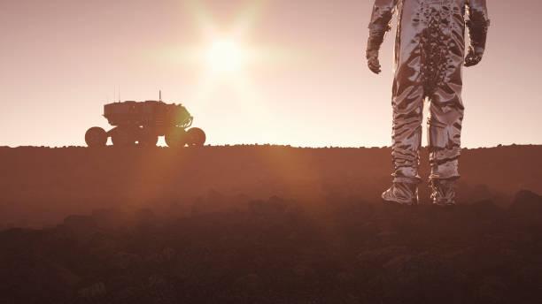 colonização do planeta distante - exploração espacial - fotografias e filmes do acervo