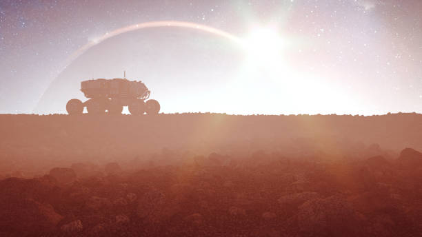 Colonization of distant planet Colonization of distant planet. rover stock pictures, royalty-free photos & images