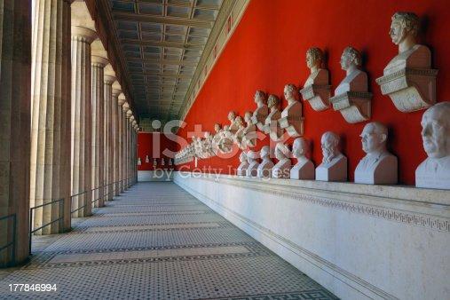 istock Colonnade around Munich's Bavaria with busts 177846994
