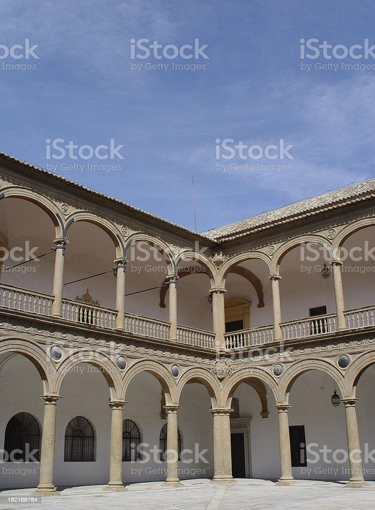Colonnade Built circa 1300 royalty-free stock photo
