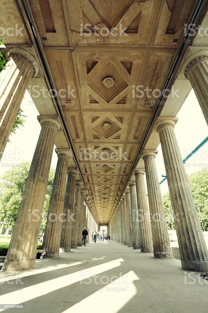 Colonnade Corridor in Berlin royalty-free stock photo